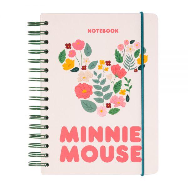 Cuaderno tapa forrada a5 bullet disney minnie mouse