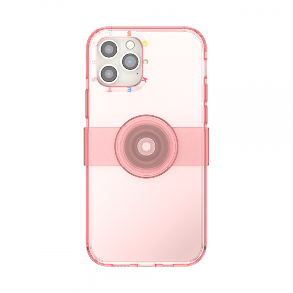 Popcase clear peachy ip12 12pro 01c front device