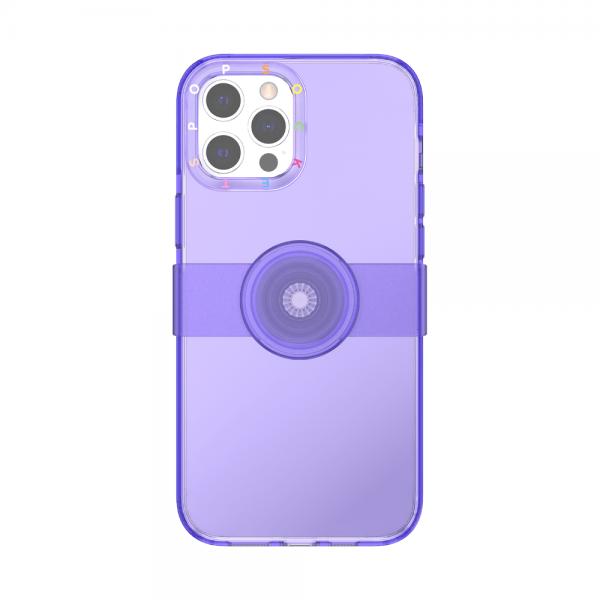 Popcase clear purple ip12promax 01c front device