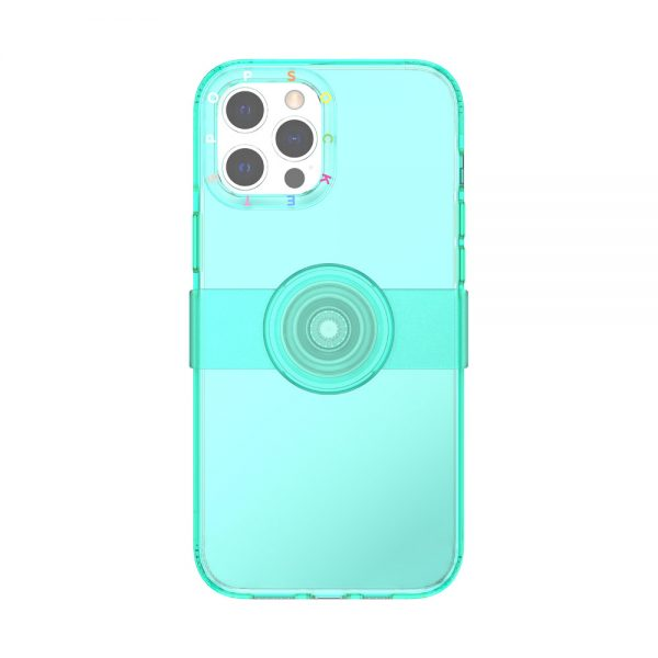 Popcase clear spearmint ip12promax 01c front device