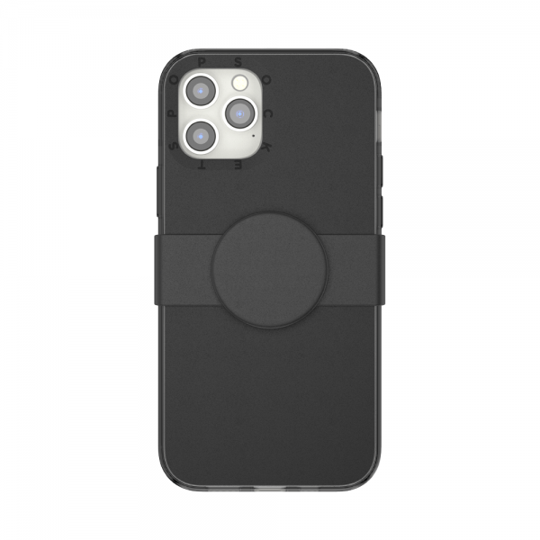 Popcase solid black ip12 12pro 01c front device