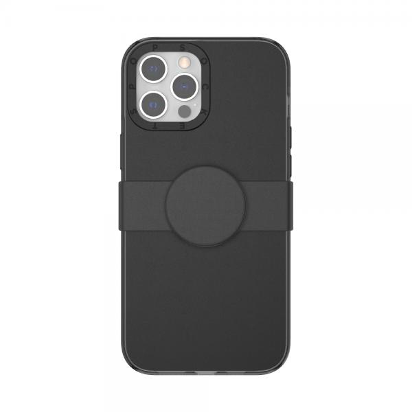 Popcase solid black ip12promax 01c front device